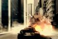 Picture T110E4, WoT, art, the explosion, the city, World of Tanks, USA, tanks, tank, PT-ACS, fire