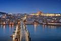 Picture Czech Republic, blue hour, cityscape, lights, Prague