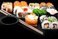 Picture rolls, rolls, seafood, Japanese cuisine, sushi, sushi