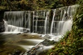 Picture waterfall, England, The lake district, Lake District, Lake District, forest, Ambleside, Stock Ghyll Falls, England, ...