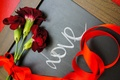 Picture flowers, tape, holiday, Board, the word, LOVE, love, clove