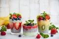 Picture milk, kiwi, milk, cocktail, blueberries, Cocktail, strawberries, raspberry, berries, raspberries, blueberries, BlackBerry, strawberry