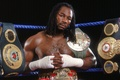 Picture legend, lennox lewis, ring, the champion, Lennox Lewis, champion, championship belt, Boxing, boxing, boxer