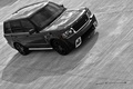 Picture Land Rover, b/W, SUV, track