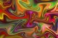 Picture folds, bending, color, light, line