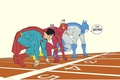 Picture Flash, The Flash, Batman, Superman, DC comics, race