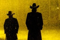 Picture horror, rain, hat, yellow, man, angels, supernatural, cowboy, AMC, hunters, TV series, black comedy, drama, ...