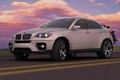 Picture road, clouds, BMW-x6