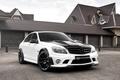 Picture Mercedes-Benz, C-class, Status Design, tuning, tuning, C-Class, white, garage, status design, house, the front, Mercedes, ...