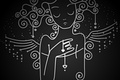 Picture background, mood, black, Wallpaper, heart, wings, angel, art, picture