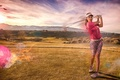 Picture sport, blow, Golf, girl
