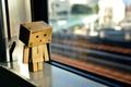 Picture light, reflection, box, toy, window, light, cardboard, danbo, box, toy, bokeh, bokeh, window, 2560x1600, reflection, ...