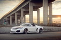 Picture white, bridge, Porsche, white, Porsche, Boxster, Spyder