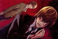 Picture blood, costume, tie, death note, death note, art, wound, yagami light, kira, takeshi obata