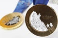 Picture macro, Sochi 2014, gold medal, bronze medal, gold, Olympic games, medal, bronze