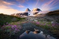 Picture the sky, mountains, nature
