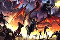Picture dragon, wings, art, the demon, fiction, chain, fire