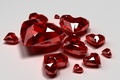 Picture red, diamonds, glass, holiday, Wallpaper from lolita777, Valentine's day, decoration, hearts, diamonds, heart, cut, Valentine's ...